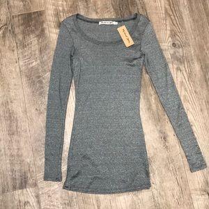 Michael Stars silver grey long sleeve shirt